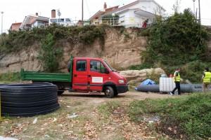 Berga consolida el talús del carrer Tossalet de les Forques
