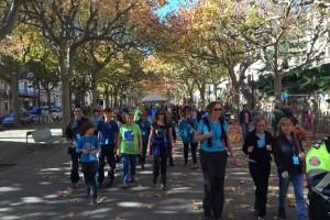 La caminada a Berga del Dia Mundial de la Diabetis aplega un centenar de persones
