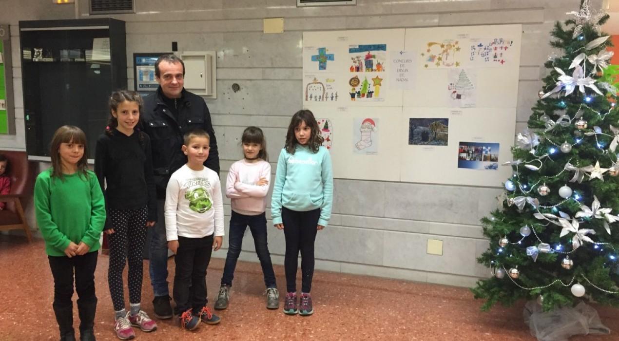 L'hospital de Berga atorga els premis als guanyadors del concurs de dibuix de Nadal
