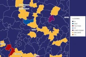 Democràcia i Llibertat guanya a 24 municipis del Berguedà, ERC a 5, En Comú Podem al poble més petit, i Unió a Fígols