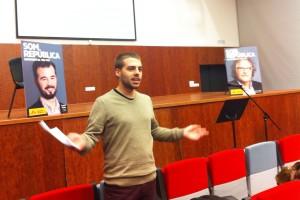 Xavier Roger i Oriol Ortega (ERC) defensen a Berga per què cal anar a votar diumenge