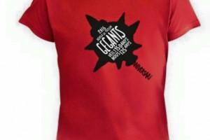 Els geganters de la Patum fan samarretes per commemorar els aniversaris dels gegants