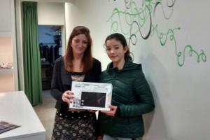 Gal·la Melgosa i Lucía Martín guanyen les tablets de Berga Comercial
