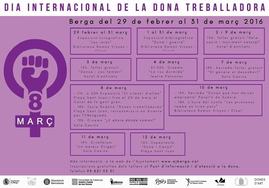 actes en motiu del Dia Internacional de la Dona Treballadora