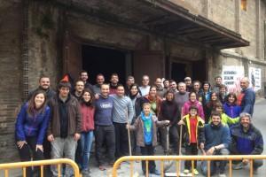 Els Castellers de Berga tenen nou local d'assaig, el Cine Catalunya