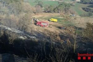 Crema mitja hectàrea de bosc a Gironella
