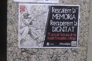 Berga recorda l'entrada de les tropes franquistes fa 77 anys i engega accions per recuperar la memòria històrica