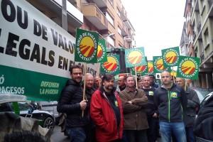 Unió de Pagesos protesta a Berga per les valoracions de les finques rústiques