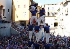 Els Castellers de Berga igualen la seva millor diada amb els castells descarregats als Quatre Fuets