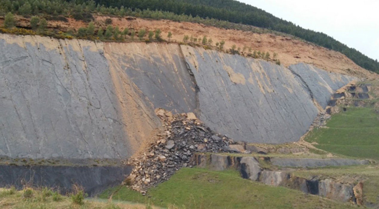 Una esllavissada al jaciment de Fumanya fa acordonar la zona, avaluar els danys i estudiar mesures de restauració