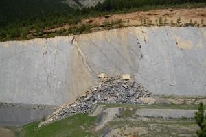 La Generalitat actuarà per preservar la paret del jaciment de Fumanya que no es va fer malbé amb l'esllavissada