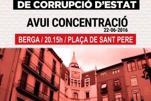 Concentració a Berga per la independència de Catalunya arran del  darrer escàndol de corrupció