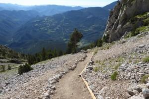 Finalitzen els treballs del camí d'accés al Pedraforca per la tartera de Saldes