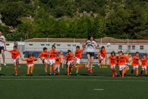 Una vuitantena de nens participen al Campus de futbol Uri Rosell a Puig-reig