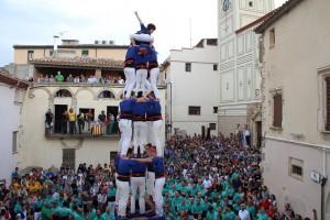 Els Castellers de Berga fan la seva millor actuació a Sant Quintí de Mediona