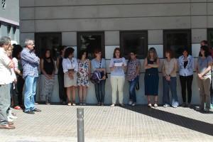El Consell Comarcal del Berguedà i Creu Roja es concentren a Berga per sumar-se al minut de silenci