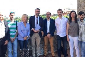 El conseller Vila visita l'ascensor de Gironella