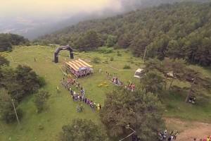 El Campionat de Catalunya d'Orientació de Capolat, vist des d'un drone