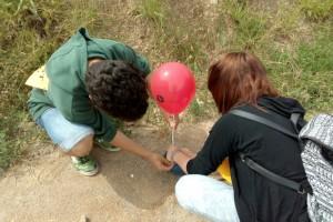 Puig-reig fa campanya pel civisme posant globus a les caques de gos