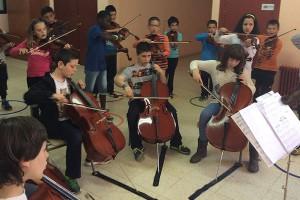 Els alumnes del projecte Superfilharmònics fan un concert de final de curs