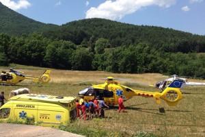 Un operari que feia tasques de manteniment dins d'un dipòsit d'aigua a Guardiola de Berguedà cau i queda ferit greu