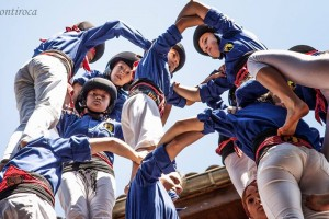 Els Castellers de Berga fan una de les millors actuacions a Bagà, tot i no aconseguir descarregar el 2 de 7