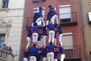 Els Castellers de Berga firmen una actuació històrica en el seu quart aniversari