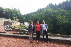 El Berguedà visita New Lanark per conèixer el seu model productiu i exportar-lo a les colònies tèxtils del Llobregat