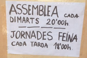 Els okupes de Berga programen jornades de treball voluntari per arreglar l'habitatge