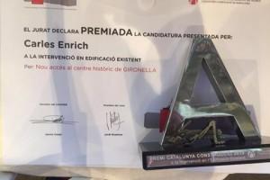 Nou reconeixement per a l'ascensor de Gironella, rep un Premi Catalunya Construcció 2016