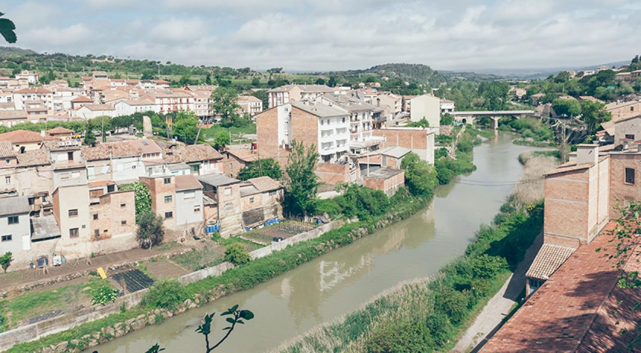 Gironella tanca els accessos al riu Llobregat per maniobres a la presa de la Baells