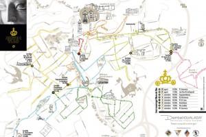 Plànol del recorregut de la Mare de Déu de Queralt a Berga