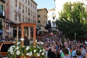Berga rep la Mare de Déu de Queralt en una processó històrica i multitudinària