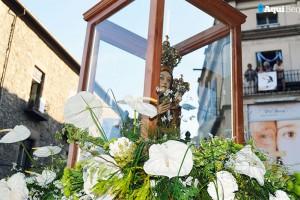 La rebuda de la Mare de Déu de Queralt a Berga, en fotos