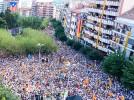 La mobilització de l'11-S a Berga, en imatges