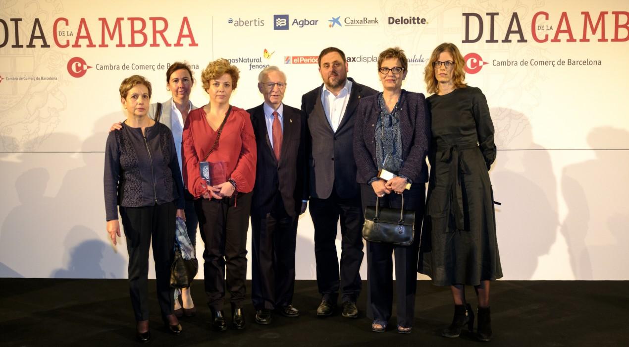 Dues empreses de Berga reben el reconeixement de la Cambra de Comerç pels seus 50 i 75 anys