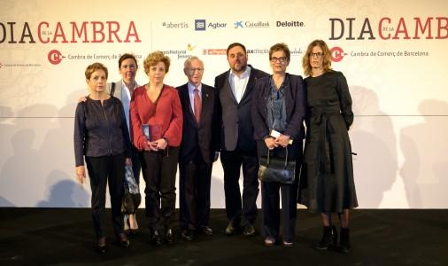 Dues empreses de Berga reben el reconeixement de la Cambra de Comerç pels seus 50 i 75 anys; max-width:100%;