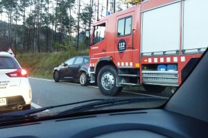 Un ferit lleu en un accident de trànsit a la B-402, a Guardiola de Berguedà