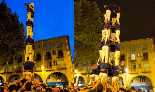 Els Castellers de Berga consoliden la torre de 7 però el 4 de 8 haurà d'esperar; max-width:100%;
