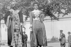 El Patronat recupera una imatge històrica dels Gegants de la Patum a Barcelona l'any 1902