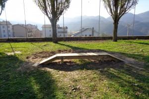 Borredà col·loca un circuit permanent per a bicicletes en una zona del camp de futbol municipal
