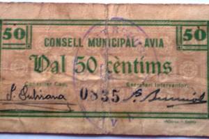 Troben un exemplar de la moneda que es va editar en temps de Guerra Civil a Avià