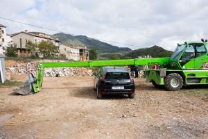 Veïns de Borredà barren el pas a les màquines que han de construir la depuradora