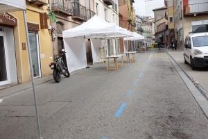 El tall del carrer del Roser per la Fira de la Xocolata genera malestar entre els comerciants