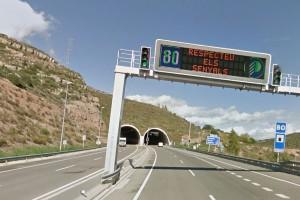 Una envestida posterior als túnels de Puig-reig obliga a tallar un carril de la C-16 en sentit nord