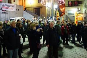 Berga mostra el seu suport a Forcadell amb una concentració a la plaça de Sant Pere