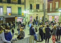 Un centenar i mig de persones donen suport a Francesc Homs en una nova concentració a Berga