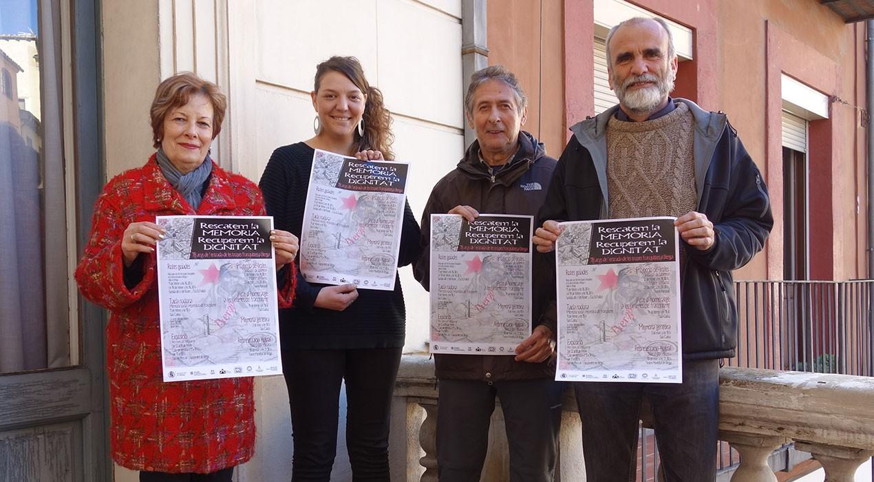 Berga homenatja les víctimes del franquisme amb un febrer dedicat a la memòria política, oral i genètica