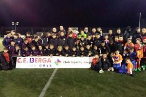 Uns 200 nens de 16 equips benjamins de futbol jugaran aquest diumenge el IV Torneig Ciutat de Berga