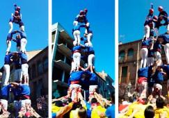 Els Castellers de Berga comencen la temporada de la consolidació descarregant dos castells de 7 a Gironella